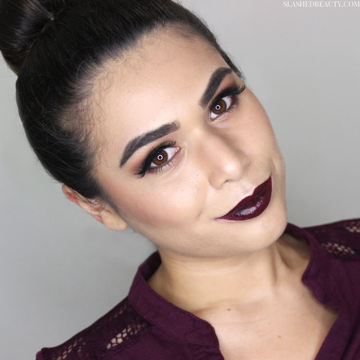 See how to create this easy vampy makeup look with affordable makeup this fall! | Slashed Beauty