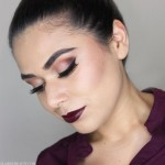 This vampy makeup look is easy to recreate and done with all affordable makeup. Try it out this fall by watching the video tutorial.