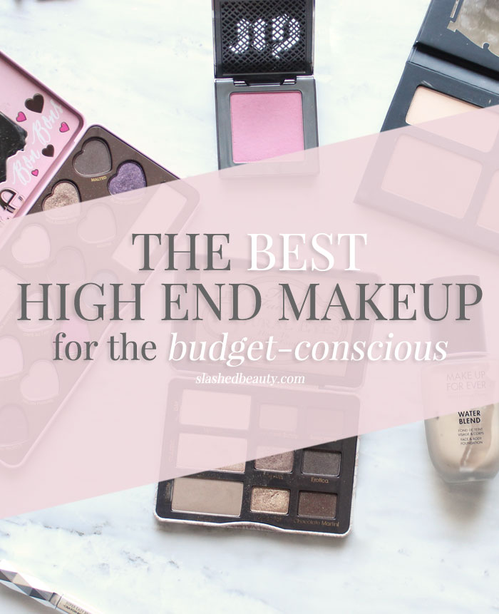 Find out which high end makeup products are worth the splurge ANY day for the budget conscious! | Slashed Beauty