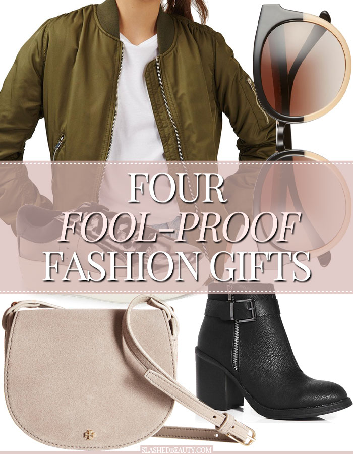 These four fashion gifts are practially fool-proof with how in-demand they are this holiday season. Check out my picks for the fashionista in your life! | Slashed Beauty