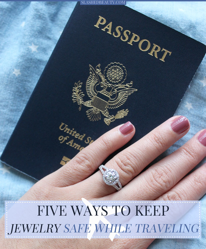 Learn how to keep your jewelry safe while traveling with these easy tips! | Slashed Beauty
