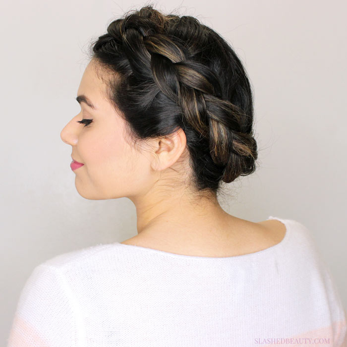 See how to recreate this beautiful Princess Leia hairstyle: the Crown Braid | Slashed Beauty