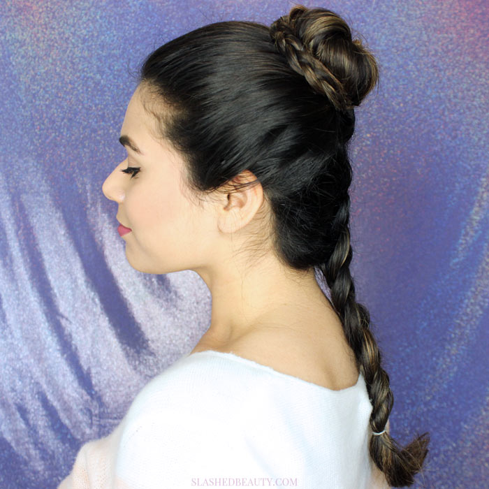 See how to recreate this beautiful Princess Leia hairstyle: the New Hope Ceremony Braided Bun | Slashed Beauty