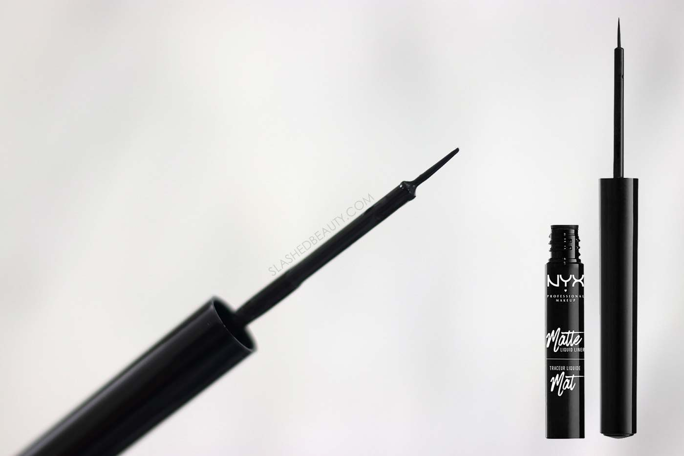 NYX Matte Liquid Liner Review | The 4 Best Drugstore Liquid Eyeliners | Slashed Beauty