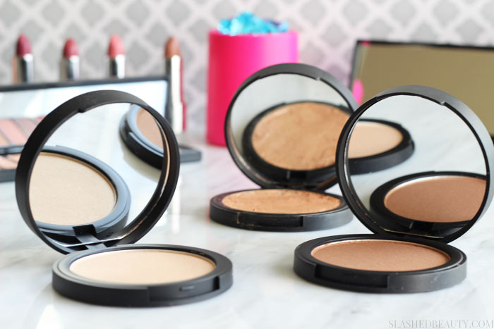 Check out why the e.l.f. High Definition Shimmer Highlighting Powders are my new favorite powder highlight. See swatches of all three shades! | Slashed Beauty