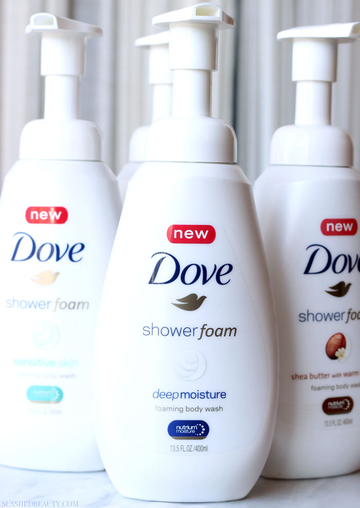 See what makes the new Dove Shower Foam worthy of every day use (and why your skin will appreciate it!) | Slashed Beauty