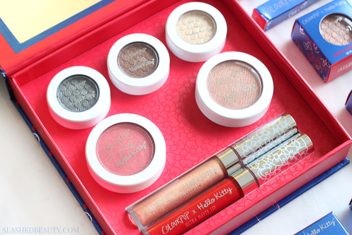 e0d37e02d Last Chance: ColourPop x Hello Kitty Collection Swatches | Slashed ...