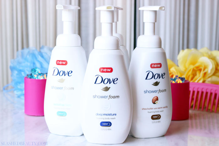 See what makes the new Dove Shower Foam worthy of every day use (and why your skin will appreciate it!)   Slashed Beauty