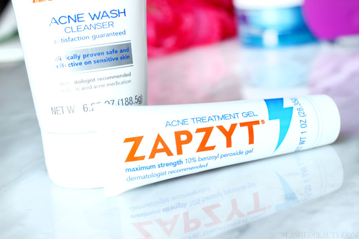 Find out why we get period acne-- why stubborn pimples appear and how to treat them -- I'm using ZAPZYT! | Slashed Beauty