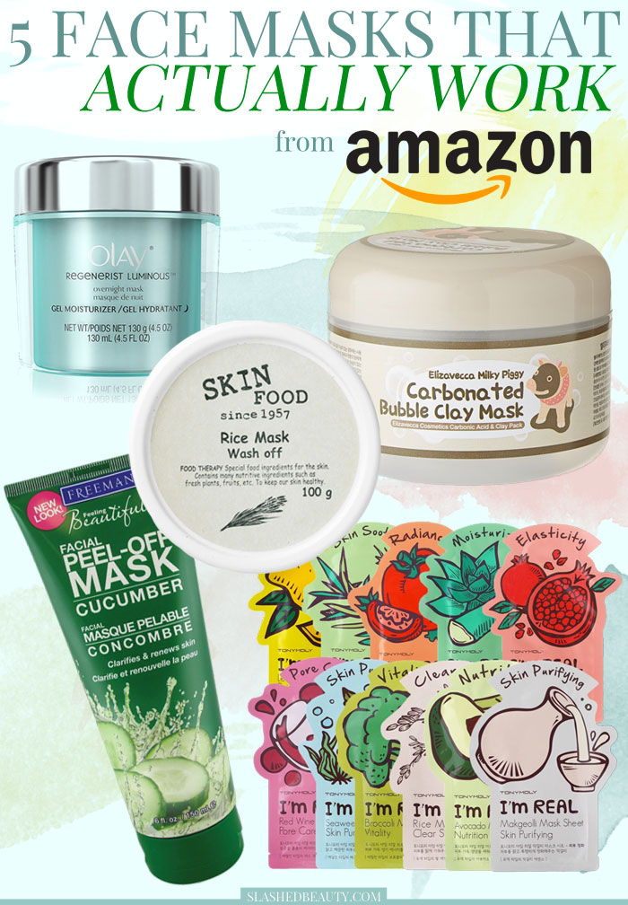Check out these face masks that actually work that you can pick up on Amazon for under $25! | Slashed Beauty