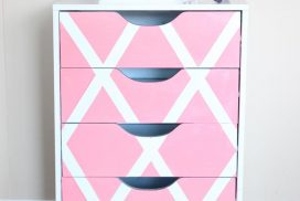 See how this easy paint project can transform your plain white beauty storage. I gave my makeup drawers a paint makeover to create a statement!