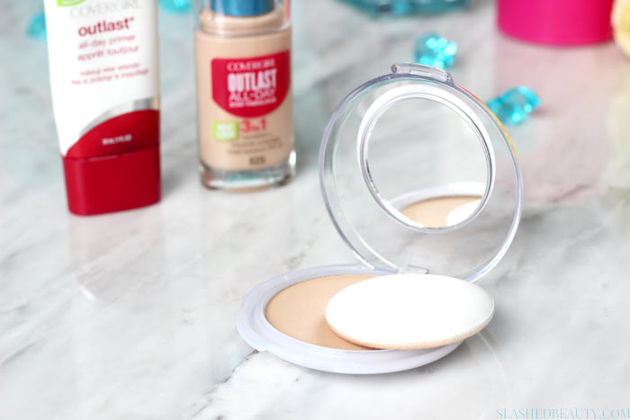 Check out the new long lasting drugstore foundation: Covergirl Outlast All-Day Stay Fabulous foundation, and how long it really lasts! See a before/after. | Slashed Beauty