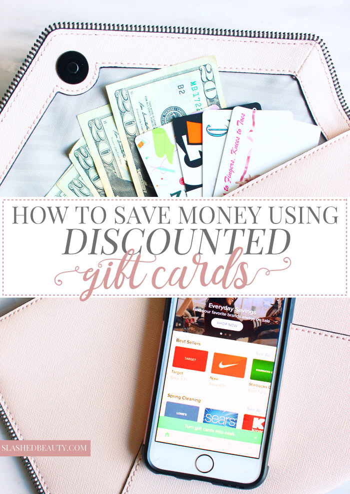 Find out how to use discounted gift cards to save money shopping, and the best app to do it with! | Slashed Beauty