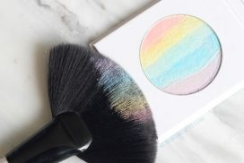 This affordable rainbow highlighter from Bitzy at Sally Beauty costs under $6 and may be the easiest way to try the trend! See what it looks like applied.