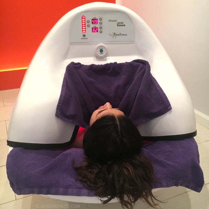 Infrared Sauna Review - Check out what all the hype around infrared saunas are about, and why I'm hooked after one session in the pod. | Slashed Beauty