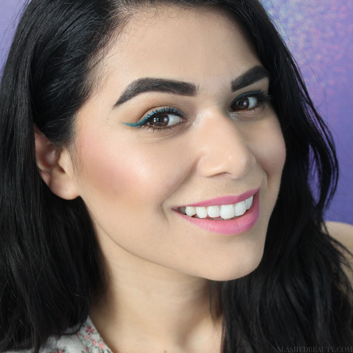 This 15 minute summer makeup look is great for beginners! You only need $20 and you'll be summer ready with bold shades. Watch the tutorial! | Slashed Beauty
