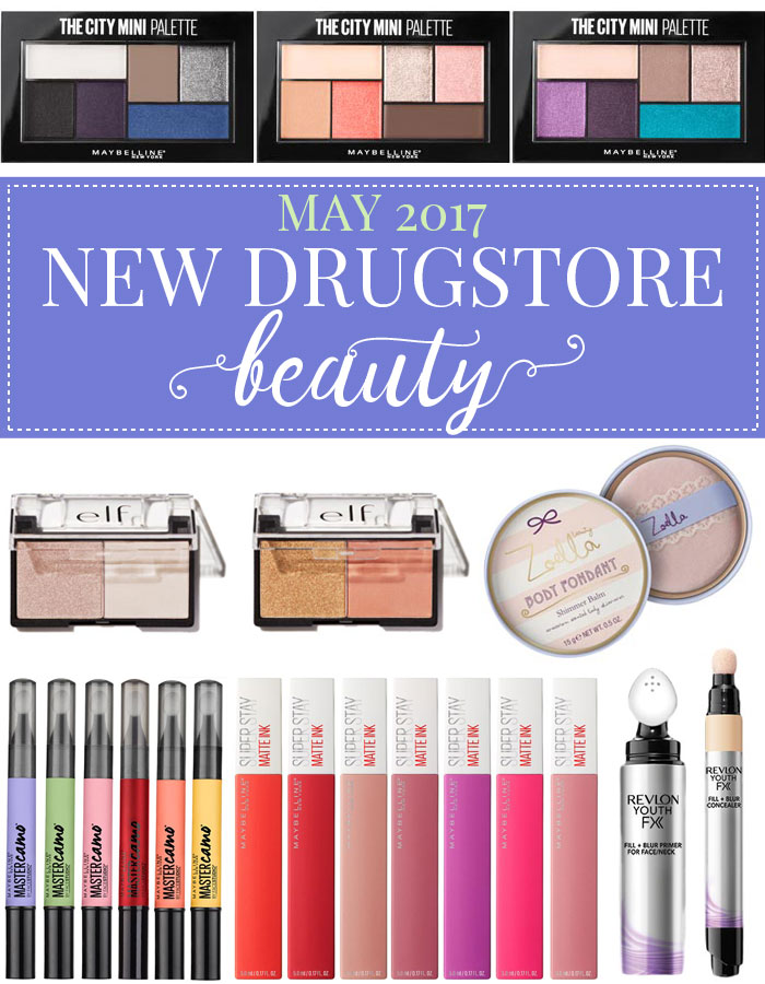 Get all the info you need on the hottest new drugstore makeup and beauty launches for May 2017. New Revlon, Maybelline, e.l.f. and Zoella launches -- you'll want to pick a few of these up ASAP for Summer! | Slashed Beauty