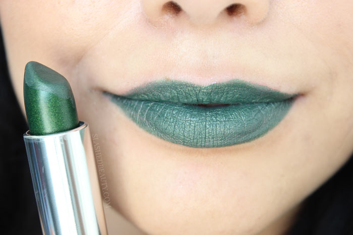 SERPENTINE: Check out the brand new Maybelline Color Sensational Matte Metallics Lispticks-- ten brand new shades that will bring you from summer to fall in bold style. See swatches and read the review! | Slashed Beauty