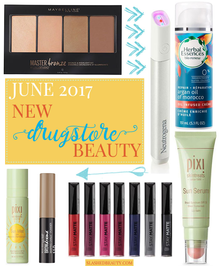 Check out all of the best new drugstore makeup and beauty products that have launched in June 2017 for summer. | Slashed Beauty