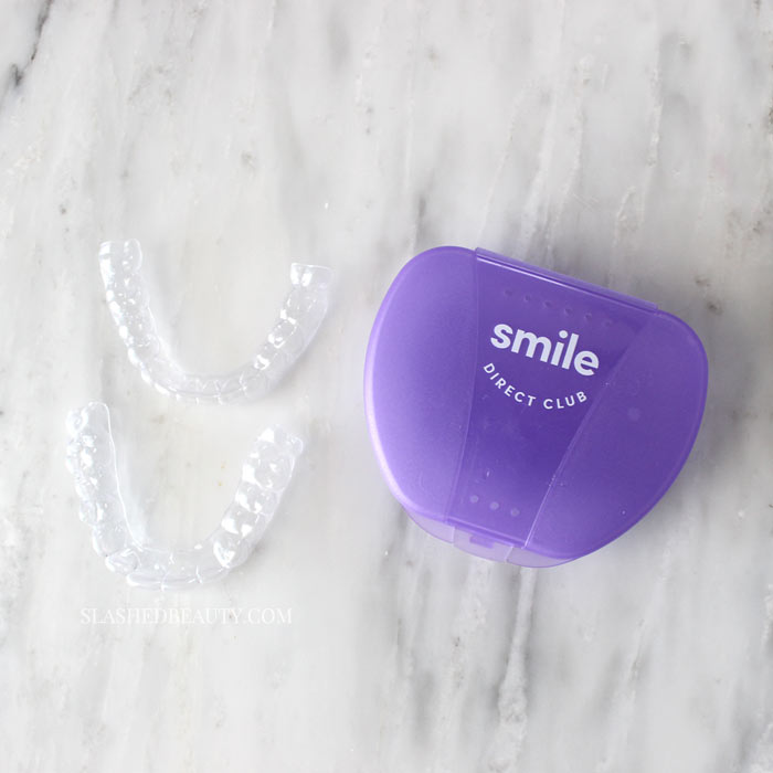 Get straighter teeth at home using Smile Direct Club: affordable clear aligners delivered to your door! Smile Direct Club Before & After Results and Review | Smile Direct Club Discount Coupon Code: Get 50% off your impression kit & $100 off aligners with code SlashedBeauty | Slashed Beauty