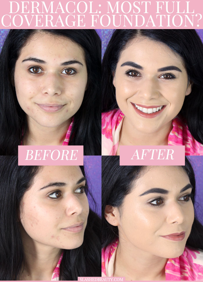 See if the Dermacol Makeup Cover Foundation is truly the most full coverage foundation ever! See the coverage in action and the wear test in the video.   Slashed Beauty