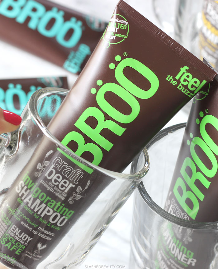 Heard of beer benefits for hair? Get them all and then some (without the boozy smell) with BRÖÖ hair care. Read the review and see why I'm addicted! | Slashed Beauty
