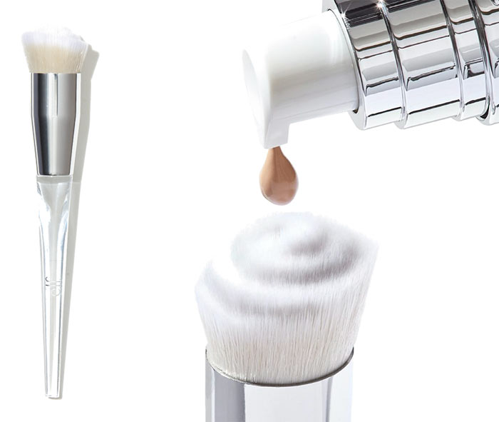 Check out what's new in drugstore makeup & beauty, including the e.l.f. Beautifully Precise Swirl Foundation Brush! | Slashed Beauty
