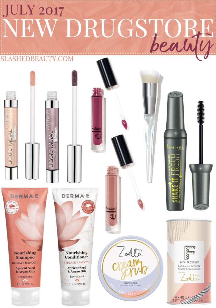Check out the new drugstore makeup and beauty launches from July 2017 to round out the summer releases. | Slashed Beauty