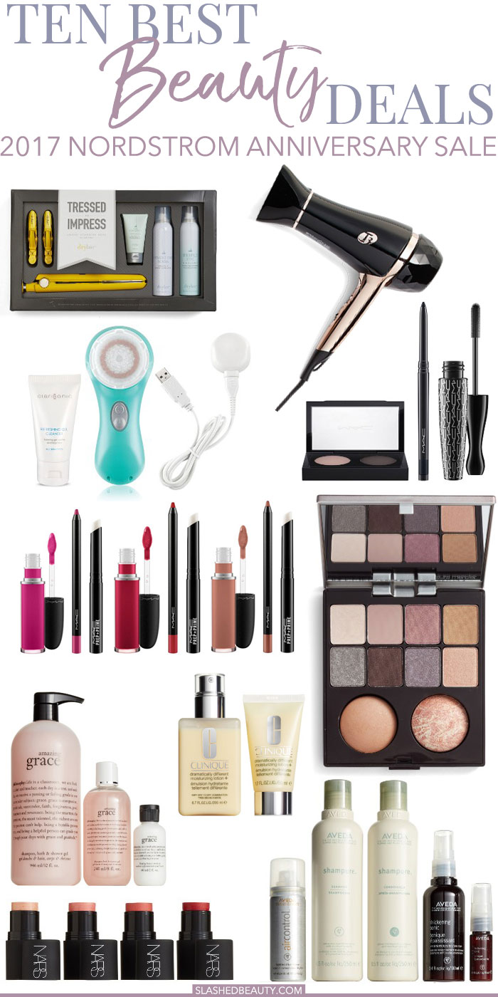 TREAT YO'SELF: The 2017 Nordstrom Anniversary Sale is here! Check out the best beauty deals going on this year that you won't want to miss. | Slashed Beauty