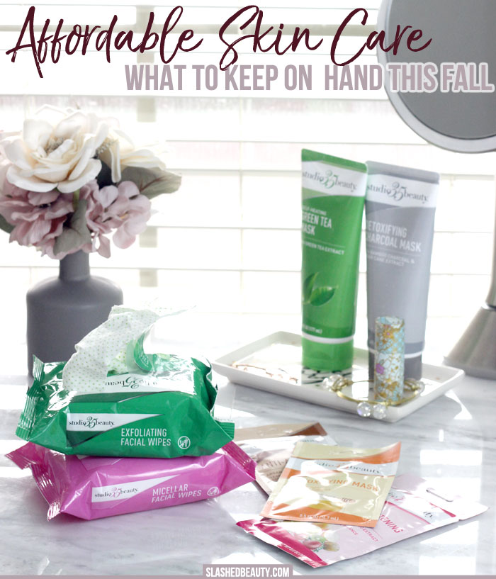 Time to stock up on the affordable everyday essentials for your fall skin care routine! Check out what I'm working in from Studio 35 at Walgreens. | Slashed Beauty