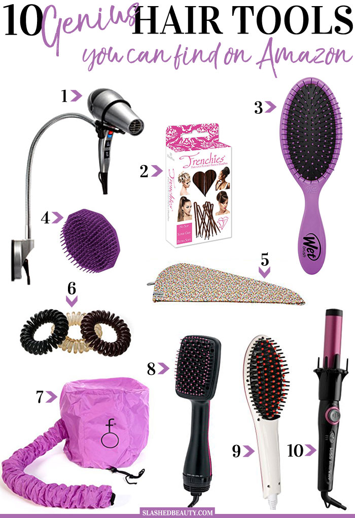 These genius hair tools from Amazon will help you style your hair quickly, and manage it without effort. Check out which ones are must-haves for you! | Slashed Beauty