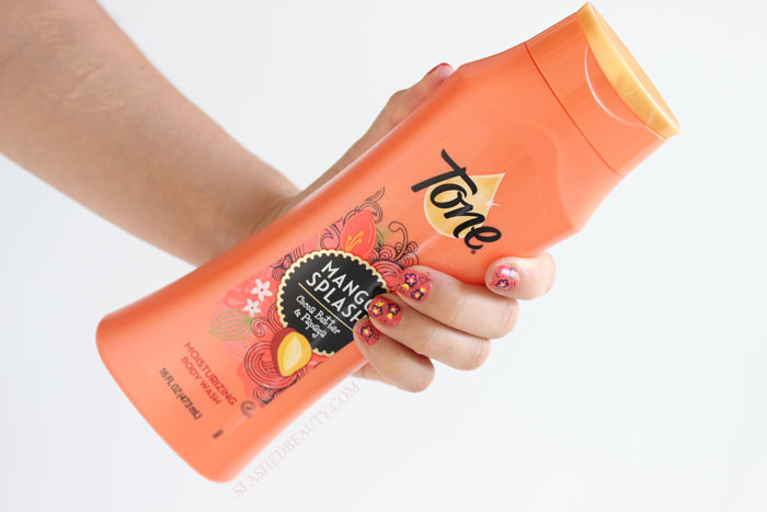 Check out how to recreate this easy funky floral nail art look, inspired by Tone Body Wash! | Slashed Beauty