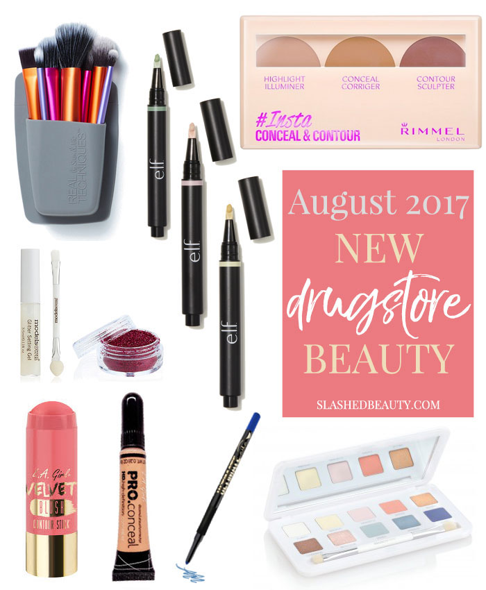 Take a look at the new drugstore makeup and beauty releases that came out during August 2017. | Slashed Beauty