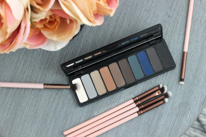 The brand new e.l.f. Mad for Matte Holy Smokes Palette is all about that sultry smoky eye, but you get some neutral versatility as well! Read the review & see swatches. | Slashed Beauty