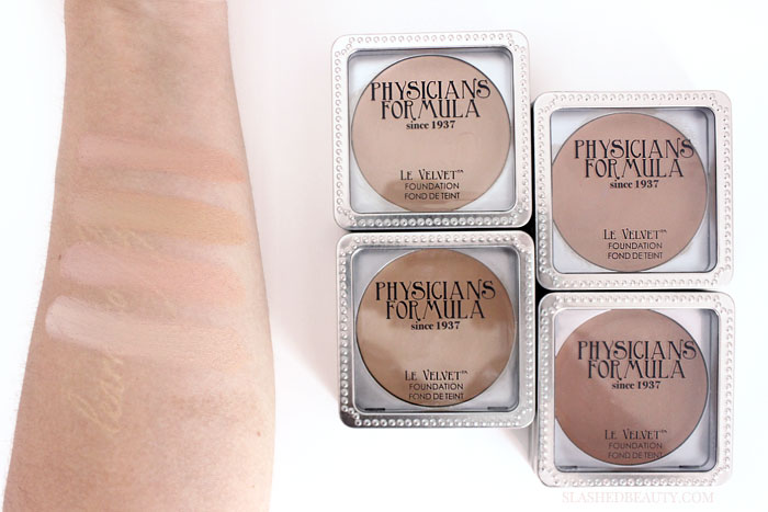 Get a first look at the new Physicians Formula 80th Anniversary Collection. It's limited edition and consists of fan favorites like the Le Velvet Foundation-- get the scoop and see swatches! | Slashed Beauty