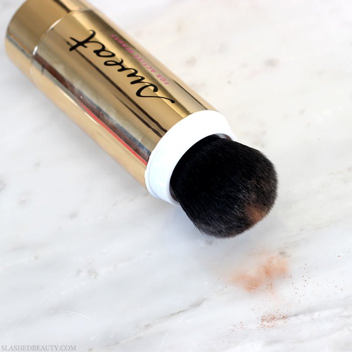 I put this sweat-proof bronzer to the test... how did it hold up? Check out the Sweat Cosmetics Mineral Bronzer before and after in this review! | Slashed Beauty