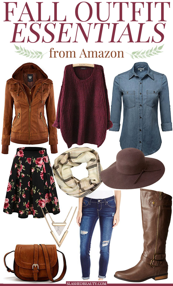 Peep these fall outfit essentials that you can pick up on Amazon-- slay this season in style! | Slashed Beauty