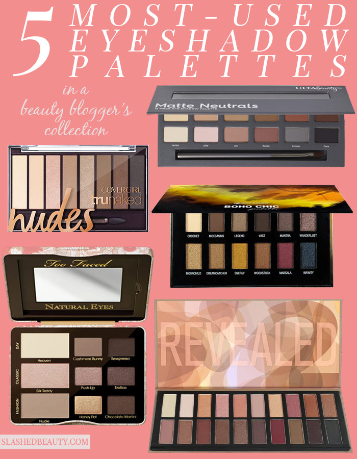 These ride or die favorite eyeshadow palettes are versatile, affordable and will become staples in your routine! | Slashed Beauty