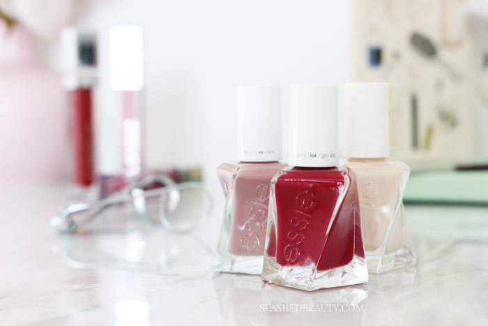Does the Essie Gel Couture polish live up to its long-lasting claims? Read the full review and see swatches of three gorgeous shades. | Slashed Beauty
