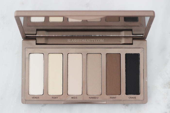 Don't underestimate this 6-shadow palette! Here are 4 easy eye shadow looks from the Urban Decay Naked Basics palette. | Slashed Beauty