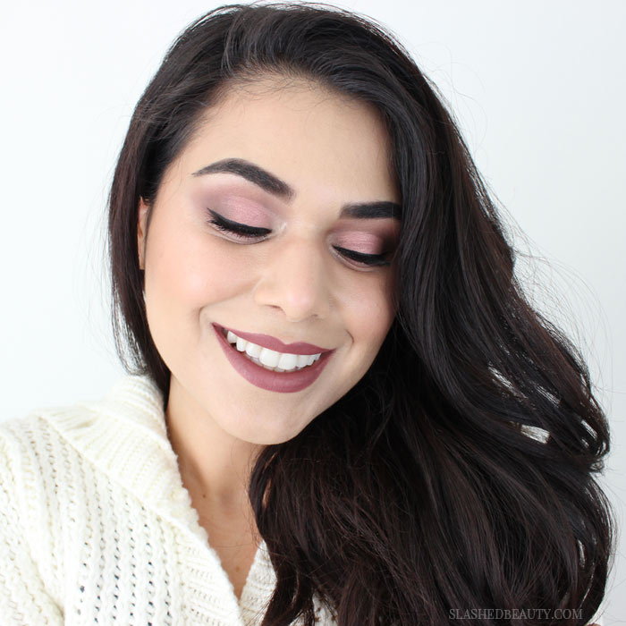 Check out this sugarplum drugstore holiday makeup tutorial, using the new Maybelline x Gigi Hadid makeup collection! | Slashed Beauty