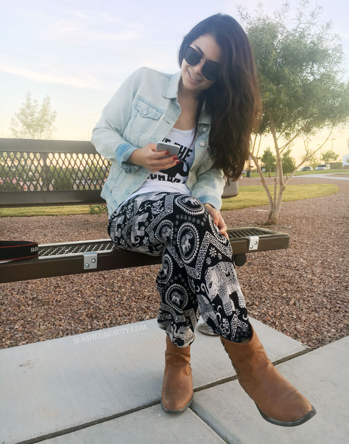 See why The Elephant Pants make a great addition to your closet and the environment! | Slashed Beauty