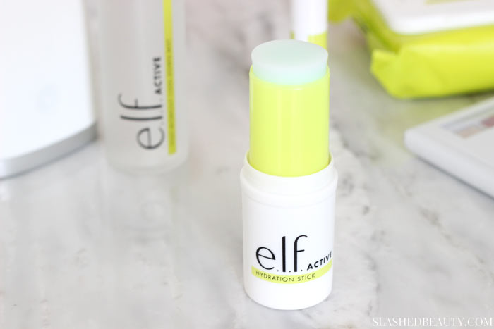 WORKOUT READY HYDRATION STICK - Discover the new e.l.f. ACTIVE collection-- skin care and makeup for the gym and workouts that's lightweight and sweat resistant! | Slashed Beauty