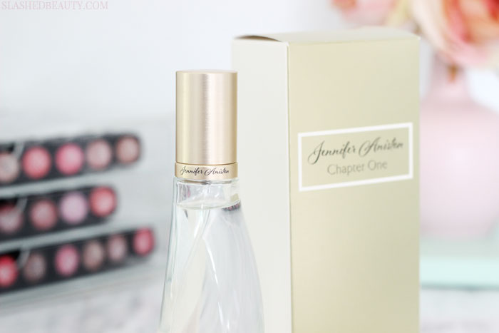 See why you need to grab the new Jennifer Aniston perfume, Chapter One for year round! | Slashed Beauty