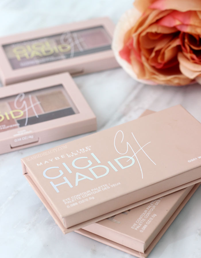 Take a closer look at the brand new Maybelline x Gigi Hadid eyeshadow palettes. Which coast are you? See swatches. | Slashed Beauty