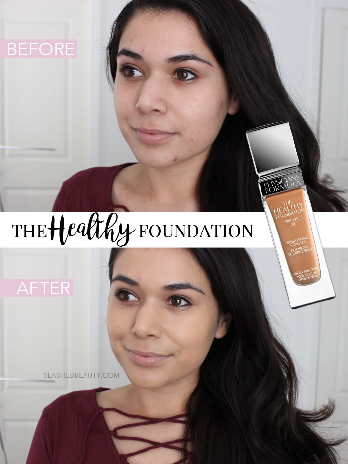 Take a closer look at the new Physicians Formula The Healthy Foundation swatches and review! | Slashed Beauty