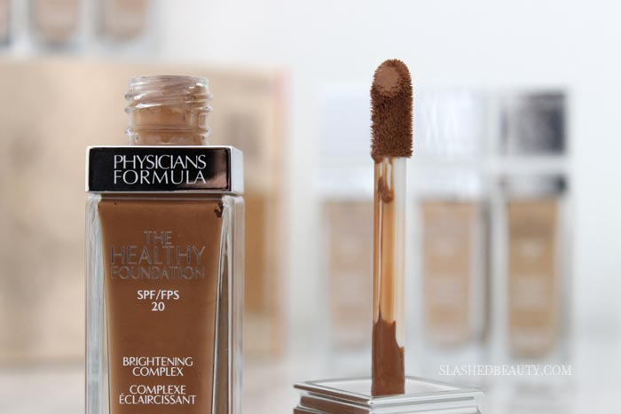 Take a closer look at the new Physicians Formula The Healthy Foundation -- see swatches and hear about the wear time! | Slashed Beauty