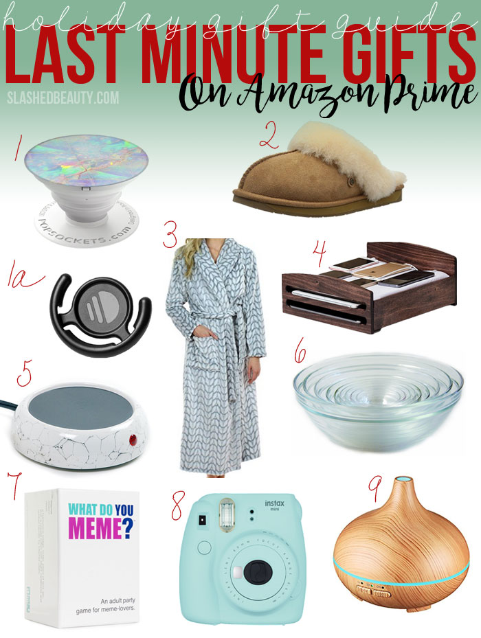 Looking for a last minute gift that will still impress? Stop scrolling and check out this Amazon Prime gift guide! | Slashed Beauty