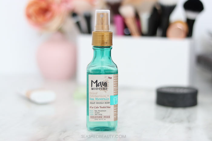 Maui Moisture Color Protection Sea Minerals Heat Shield: These five drugstore beauty products are seriously overlooked! Check out these underrated beauty favorites that deserve more attention. | Slashed Beauty