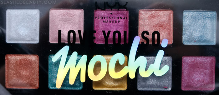 If you're loving the shades in the NYX I Love You So Mochi Electric Pastels eyeshadow palette, you might wanna check out these swatches first. Read the review before you buy! | Slashed Beauty